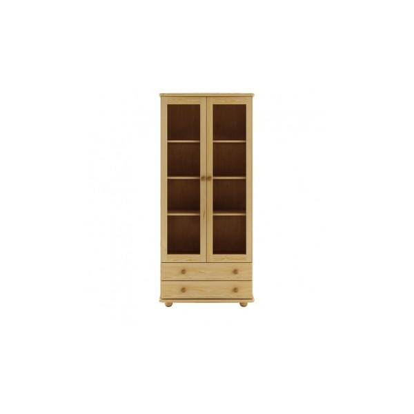 Elegantní vitrína Reidar z borovicového dřeva