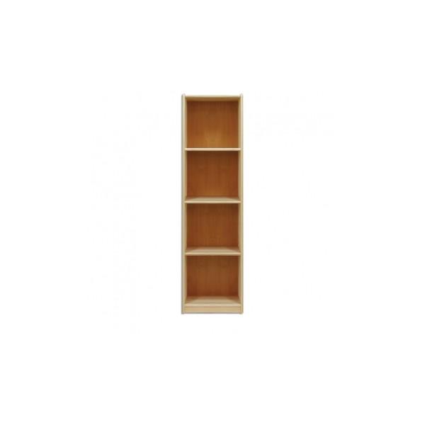 Jednoduchá policová knihovna Kale z borovicového dřeva