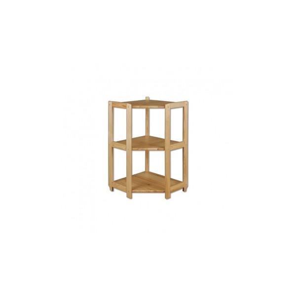 Rohový policový regál Sulo z borovicového dřeva