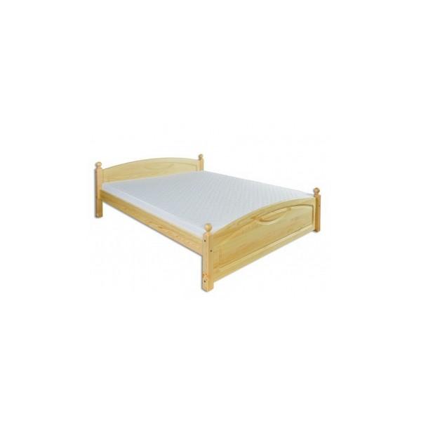 Manželská postel Karlo z borovicového dřeva