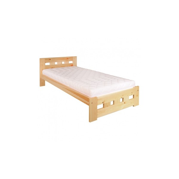 Jednolůžková postel Neria - masiv borovice