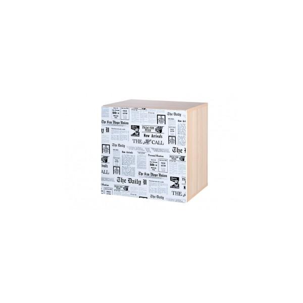 Jednodveřová závěsná skříňka Saly s potiskem