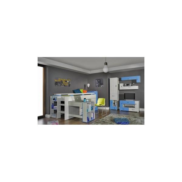 Modrý klučičí pokoj s patrovou postelí Adéla 2
