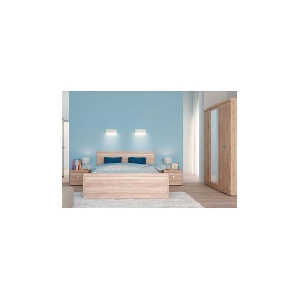 Ložnicová sestava Cedrik 1Pořiďte si minimalistickou sestavu do ložnice Cedrik 1. Do prostorné manželské postele se bez