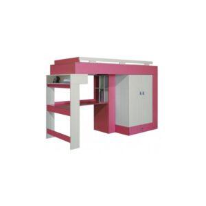 Vyvýšená postel s psacím stolem a skříní Adéla 3