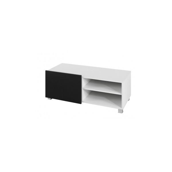 Výprodej - Malý televizní stolek Dangelo, černý lesk