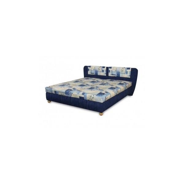 Čalouněná postel Bára- modrá