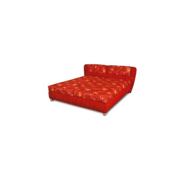 Čalouněná postel Bára - červená