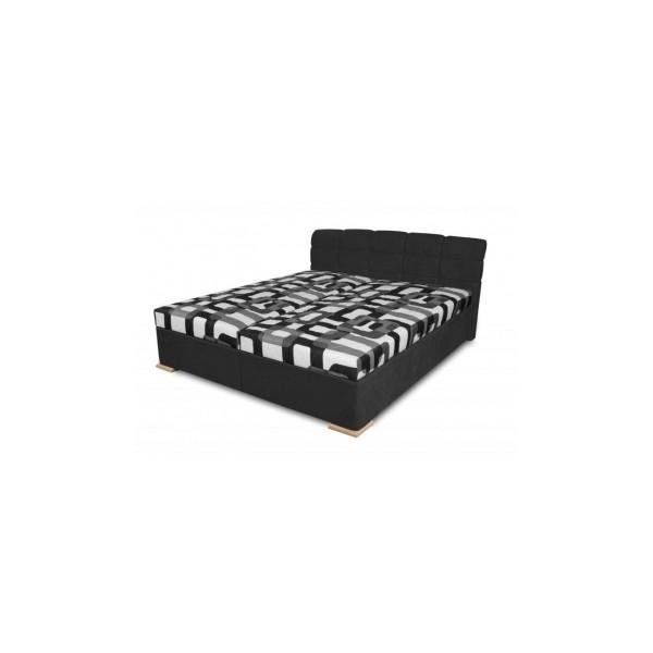 Manželská čalouněná postel Violetta v černém odstínu