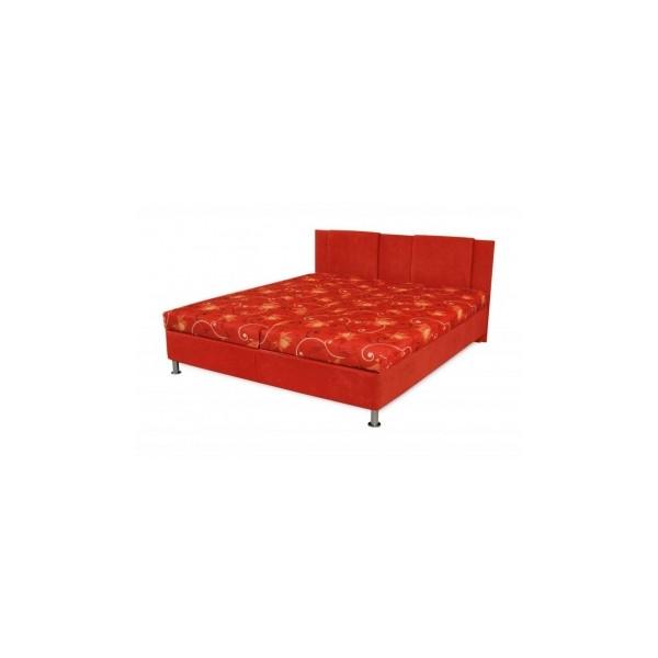 Čalouněná postel s úložným prostorem Tatiana - červená