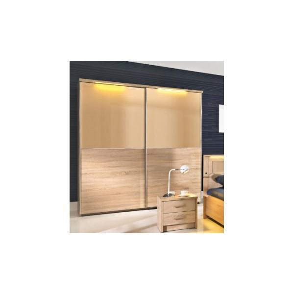 Moderní 2-dveřová šatní skříň s posuvnými dveřmi Delora