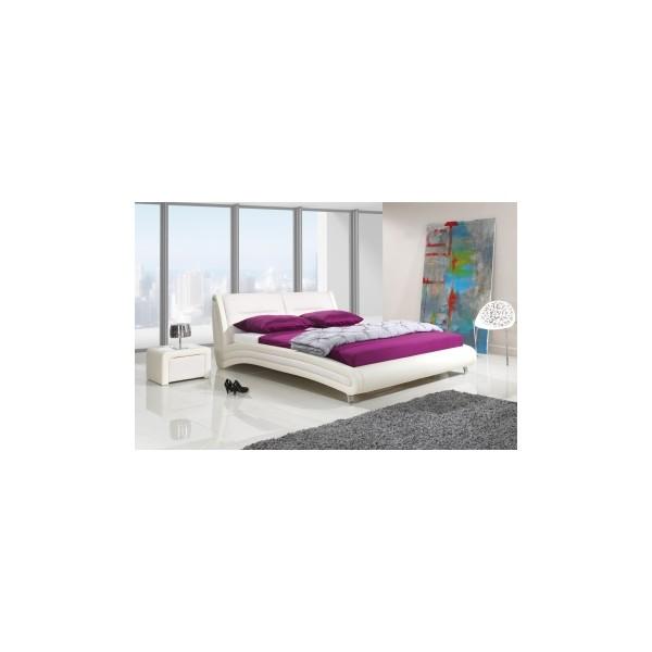 Nadčasová čalouněná manželská postel Laurent