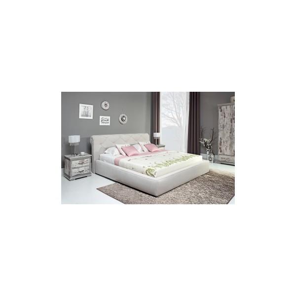 Elegantní čalouněná manželská postel Modesto