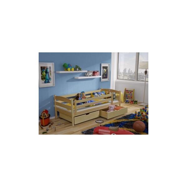 Dětská dřevěná postel s úložným prostorem Jeroným